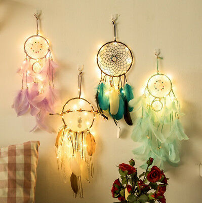 Feathers Handmade Dream Catcher With Car Wall Hanging Decoration Ornament Gift