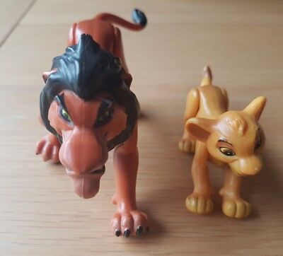 Disney Vintage Lion King Young Simba and Scar Action Figure Mattel