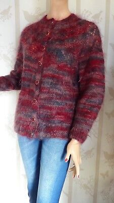 SIZE-12/14, HAND KNITTED Gorgeous Mohair Cardigan.