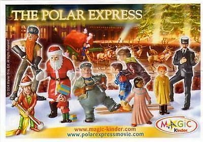 The Polar Express A Scelta (C-201 - C-211) Kinder Sorpresa Italia 2004/2005
