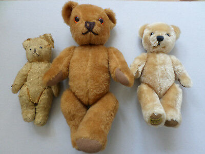 Lot of 3 x Bears inc Merrythought & vintage bear in need of some love!!