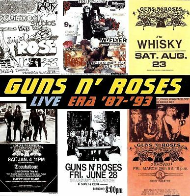 GUNS N ROSES live era '87-'93 (2X CD album) hard rock, glam