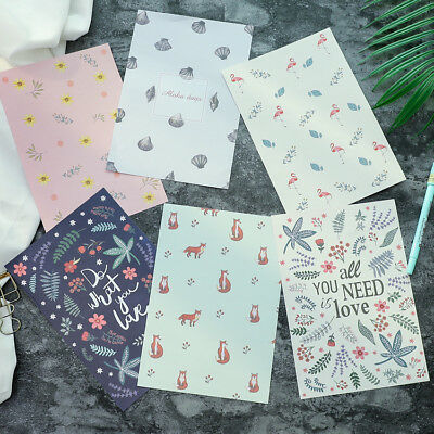 Letter Paper Stationary Set Floral Postcard-4sh Writing Paper 2sh Envelope Cute