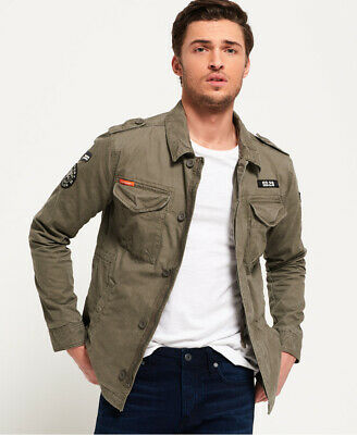 New Mens Superdry Rookie Deck Patched Jacket Aged Olive