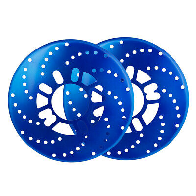 2 Pcs Self Adhesive Decorative Auto Brake Rotor Racing Covers Discs Blue