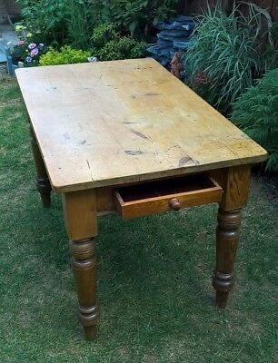 A Stripped- Pine Kitchen Table