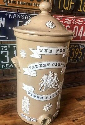 Antique Carbon Water Filter Decorative Stoneware Royal Coat Of Arms