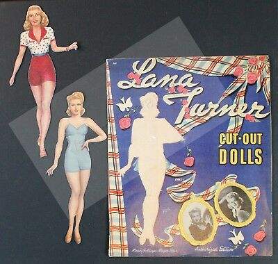Vintage Paper Dolls:  REDUCED Lana Turner 1942 Whitman Reproduction