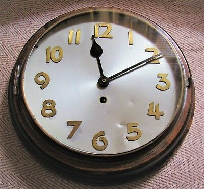 Very Nice 1930's/40's Industrial Wall Clock With 10in Dial. Working