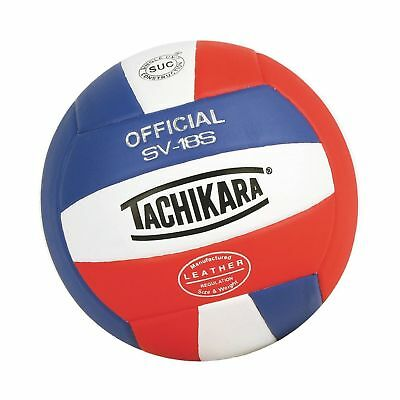 Tachikara Institutional Quality Composite Leather Volleyball Royal-White SV-18S