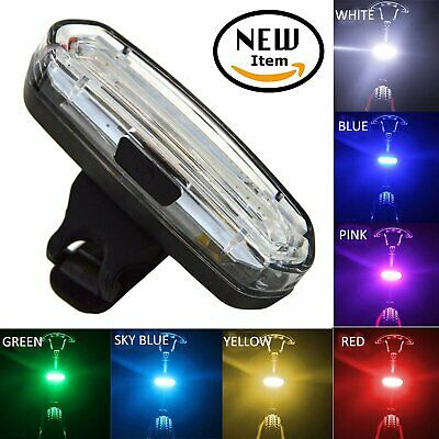 USB Rechargeable 50 Modes COB LED Rear Tail Light MTB Road Bike Bicycle Cycling