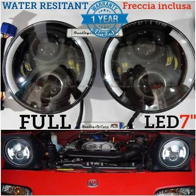 Coppia Fari LED mx5 mazda mx-5 na tuning NERO headlight 7'' ANGEL EYES H4 OMOLOG