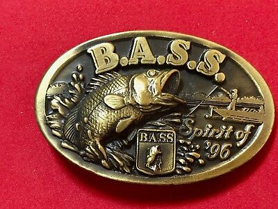 BASS Anglers Sportsman Society BELT BUCKLE Spirit of 96 Fly Fish Fishing