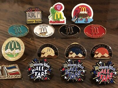 15 McDonald's Denver Region/Rocky Mountain Region/ West Divsion Collector Pins
