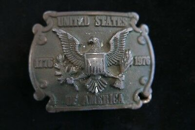 Vintage Cast Metal 1776-1976 United States Of America Mens Belt Buckle W/ Eagle