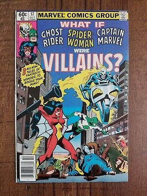 What If? Ghost Rider Capt Marvel Spider-Woman Villains #17 (Oct 1979)