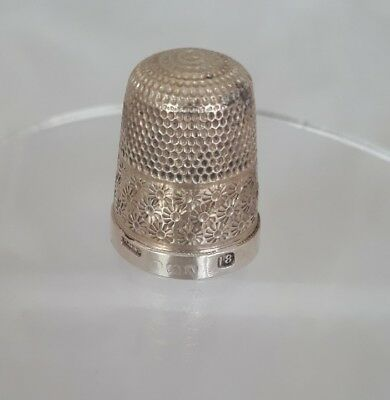 Vintage Sterling Silver Thimble Henry Griffith & Sons 1925