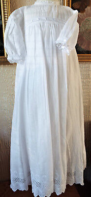 Baby Christening Gown B Anglais With Embroidery