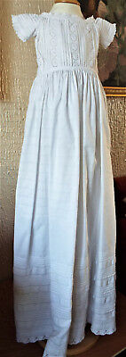 Vintage Baby Christening Gown/pintucking
