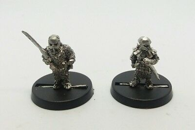 games workshop  Lord of the rings metal hobbits sam & frodo in orc armour
