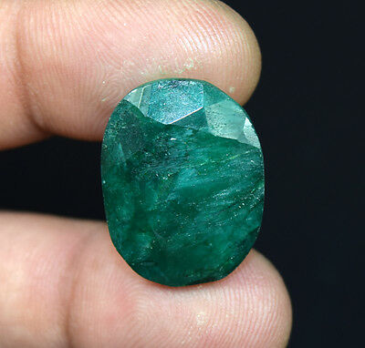 26.60  Cts.  African  Emerald  Oval  Cut Loose Gemstones For Ring & Pendant