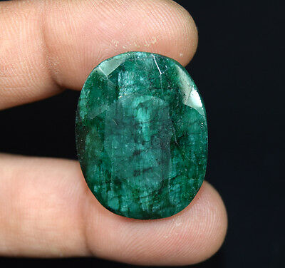 50.15  Cts.  African  Emerald  Oval  Cut Loose Gemstones For Ring & Pendant