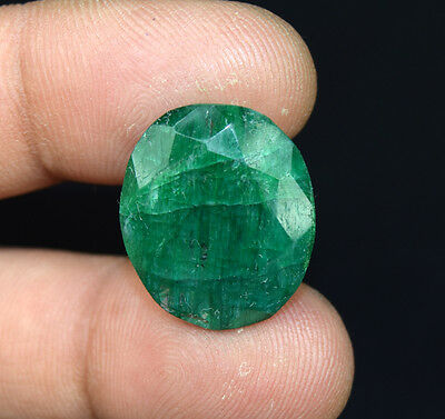 18.45  Cts.  African  Emerald  Oval  Cut Loose Gemstones For Ring & Pendant