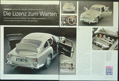 ASTON MARTIN DB5 JAMES BOND Goldfinger in 1-8 von Eaglemoss....ein Modellbericht