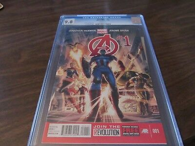 Avengers #1 CGC 9.8 Graded Comic Book Dynamic Forces DF Marvel Comic Book NICE!