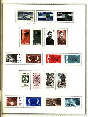 IRELAND EIRE ITALY Lot of 72 Stamps Collection on Minkus Album Pages
