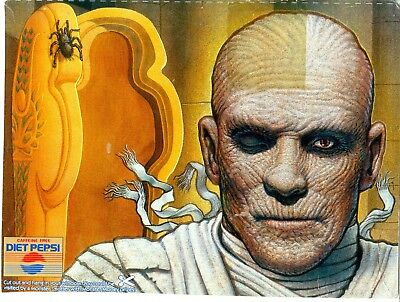 """Group of  Monster Images from Pepsi 6 cards 7 1/2"""" x 10"""" VG  2"""" clear tape on..."""