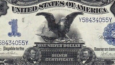 1899 $1 Black Eagle XF Silver Certificate SILVER ON DEMAND (Absolute BEAUTY)