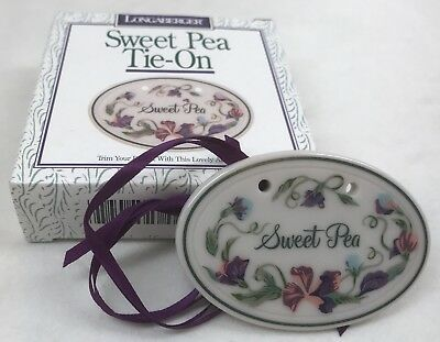 Longaberger 1996 Sweet Pea Basket Tie-On Flowers NIB