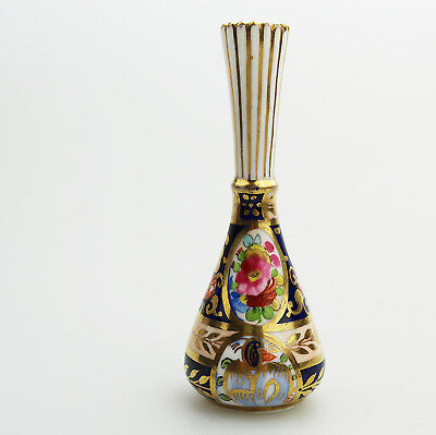 Antique English Porcelain Crown Staffordshire Miniature Vase 2 C.1900
