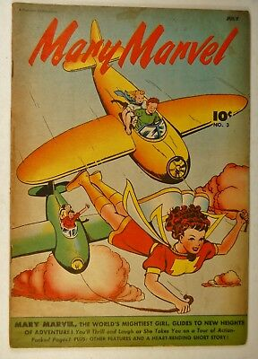 """Mary Marvel #3 (Jul 1946, Fawcett) """"Fighting the Color King!"""" """"Ghost Games!"""""""