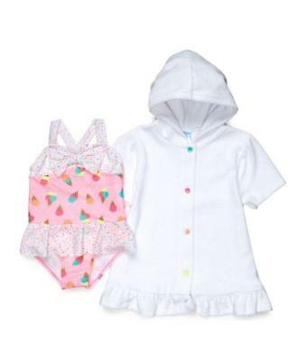 BABY BUNS® Little Girls' 6 Ice Cream Swimsuit & Cover-up Set NWT
