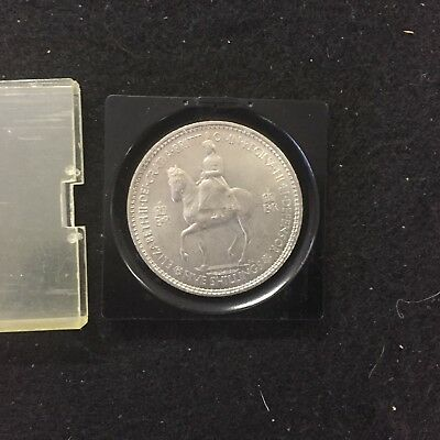 1953 Elizabeth Ii Coronation Year Full Crown Five Shilling Commemorative Coin