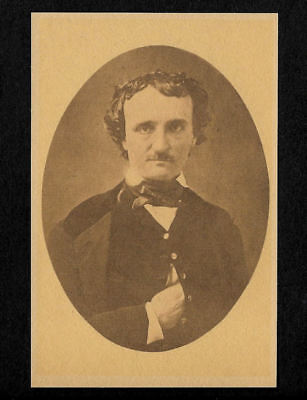 "Edgar Allan Poe Writer 4""x6"" Photo Reprint On 100 Year Old Paper"