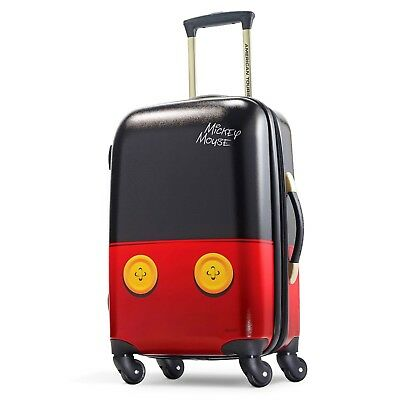 """DISNEY / AMERICAN TOURISTER Luggage MICKEY MOUSE Rolling 21"""" Small SUITCASE NEW"""