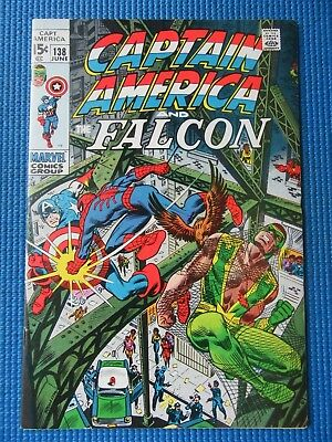 Captain America # 138 - (Vf+) - Spider-Man. Harry Osborn, Stone Face, Falcon