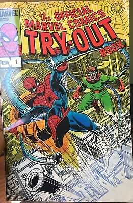 The Official Marvel Try-Out Book Spider-Man Stan Lee 1983