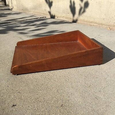 Jens Risom Walnut Tray Eames Era