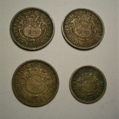 Collection Lot Costa Rica Coins**4 coins**1921 - 1922**Take a Look**