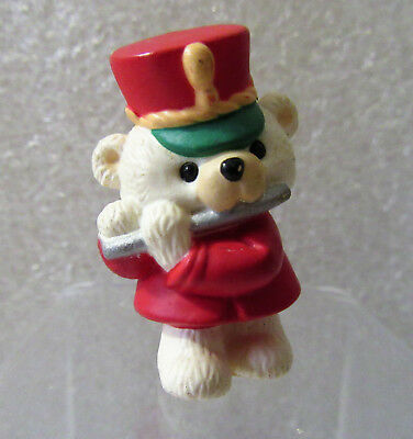 Hallmark Merry Miniatures Teddy Bear Playing Flute Figurine