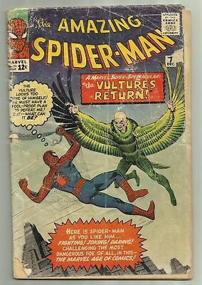 The Amazing Spider-man #7 Marvel 1963 2nd Vulture App Ditko Art