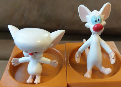 1994 Vintage Pinky and the Brain Warner Bros PVC Topper Figure Set