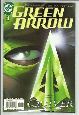 Green Arrow #1 2001 1St Print! Oliver Queen Returns! Kevin Smith Script! Vf/nm