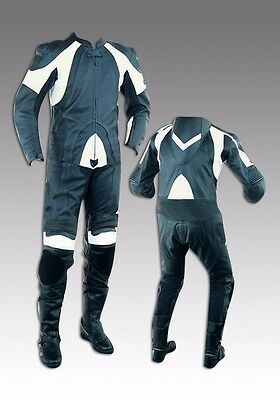 Custom Tailor Made Leather Sports Racing Motorcycle Suit Padded Model RK-489