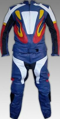 Custom Tailor Made Leather Sports Racing Motorcycle Suit Model RK-122
