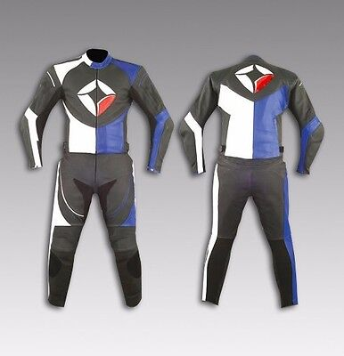 Custom Tailor Made Leather Sports Racing Motorcycle Suit Padded Model RK-494
